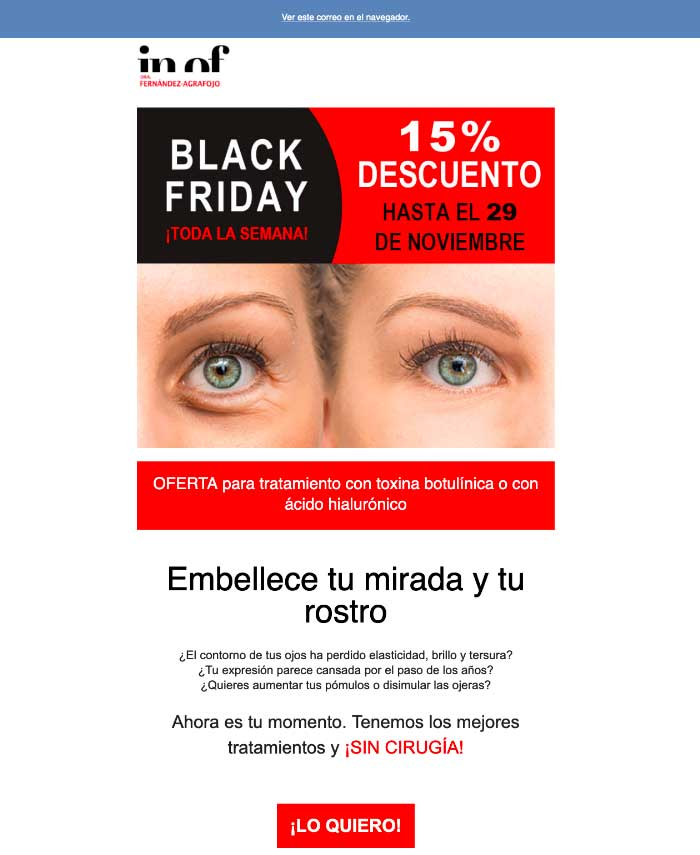 Email promocional - Marketing Creatyweb